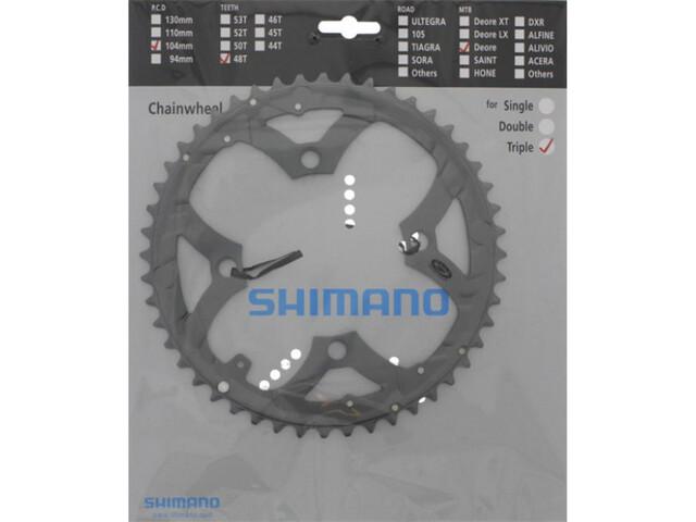 Shimano Deore FC-M590 Kettingblad 9-voudig, grey